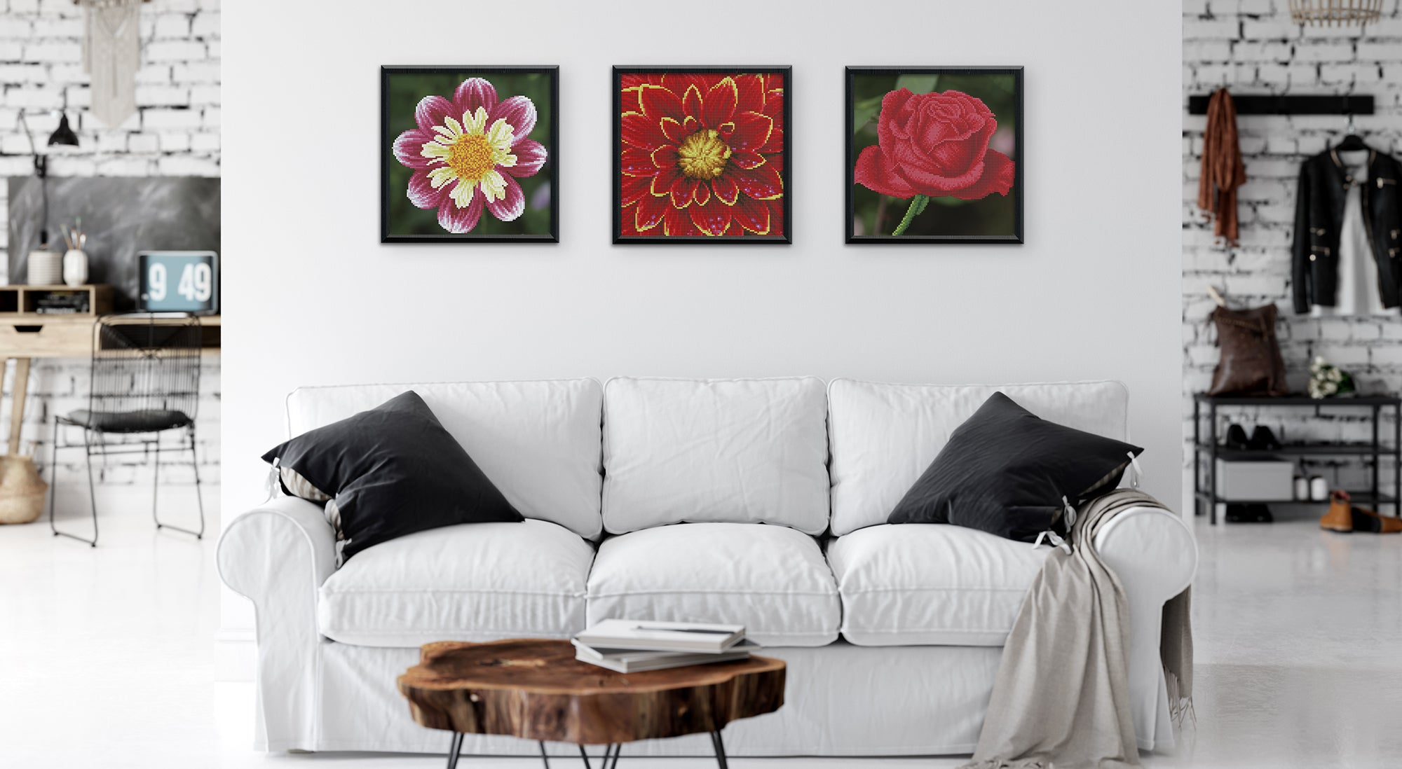 diamond painting woonkamer diamond painting bloemen diamond painting fans