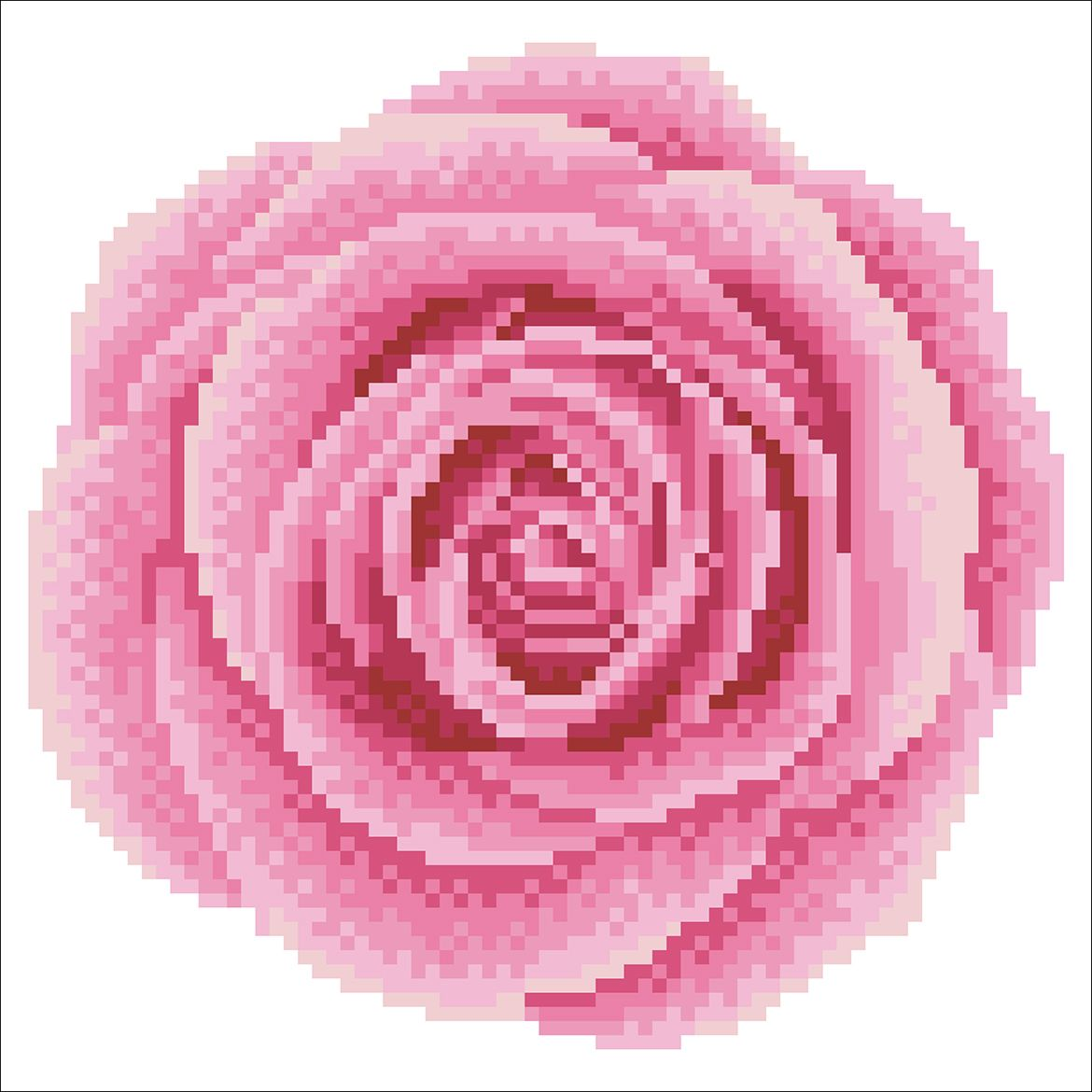 Roze roos diamond painting
