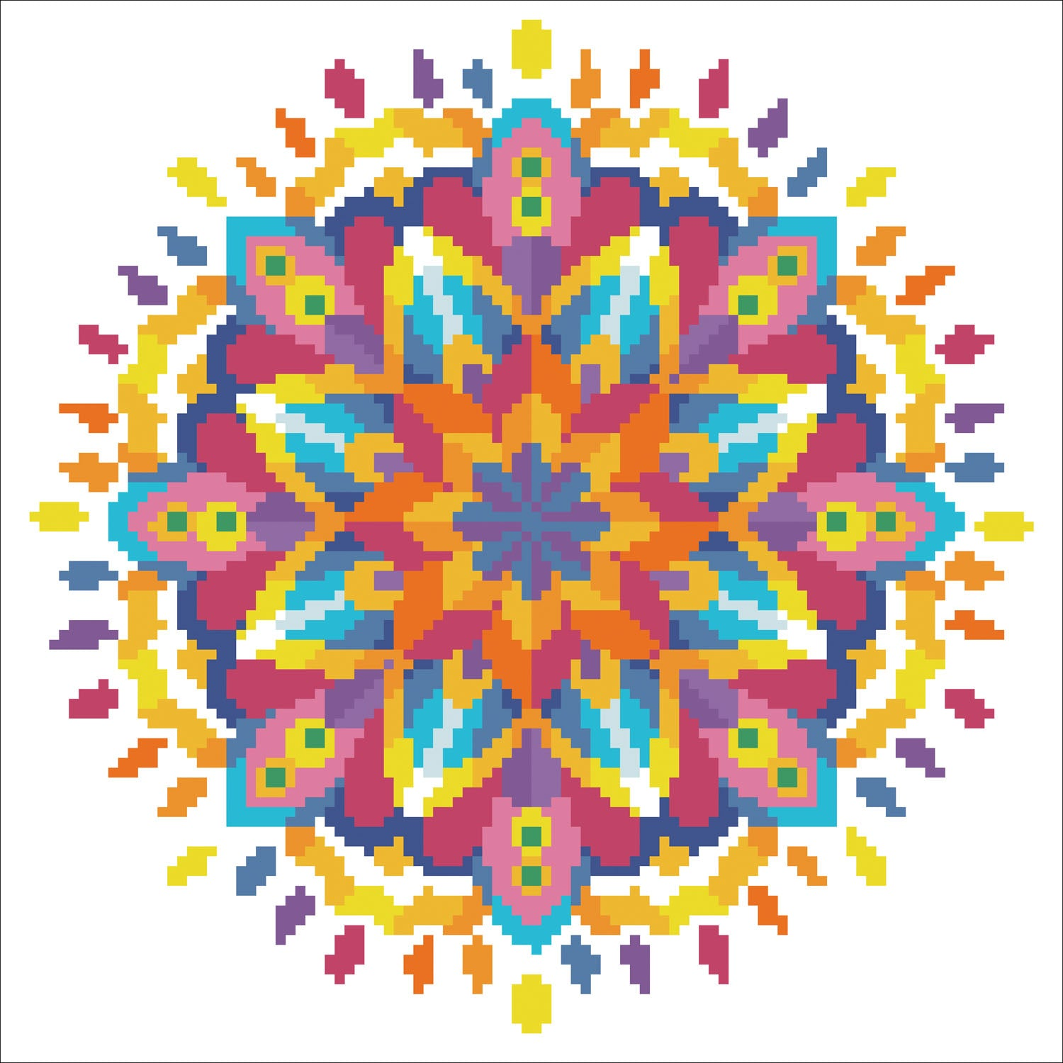 Blauwe mandala diamond painting