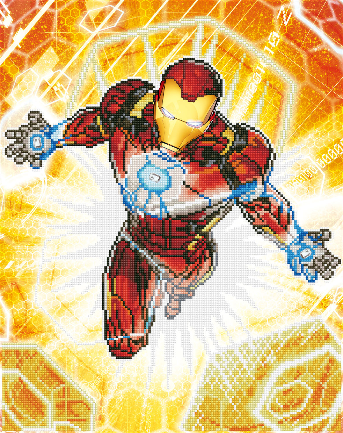 Iron man blast off diamond painting