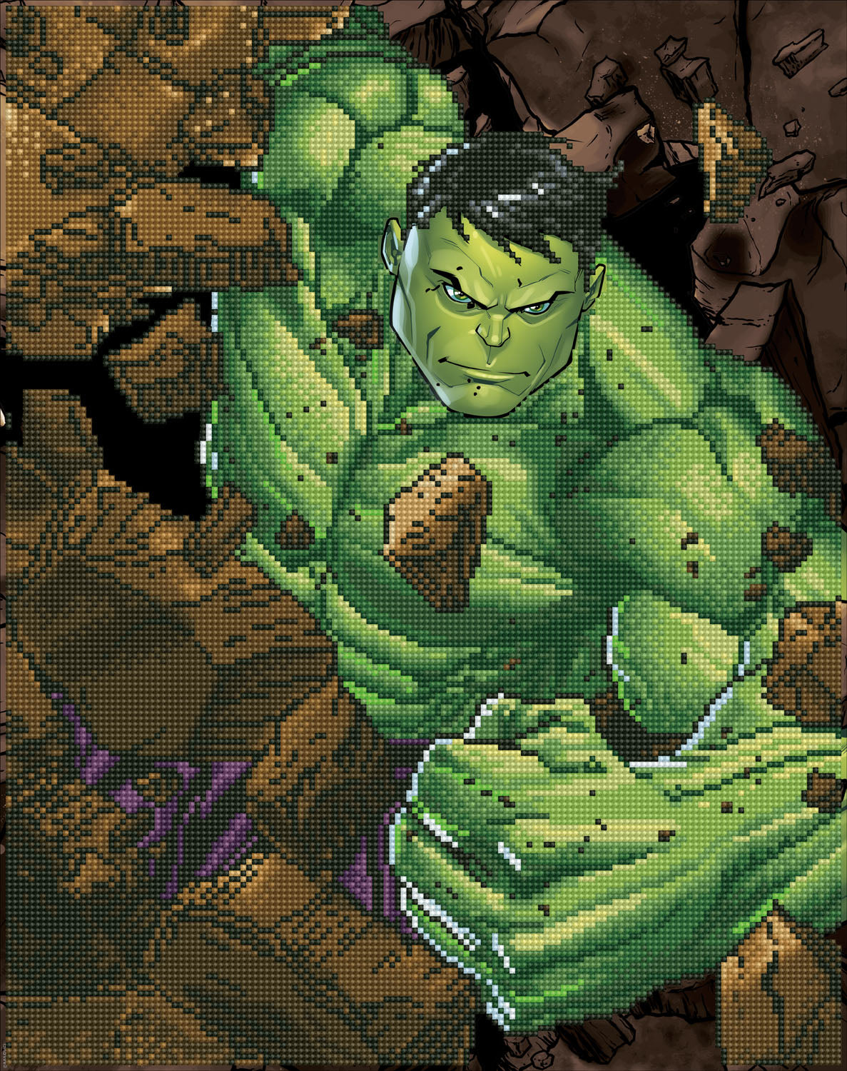 Hulk slag diamond painting