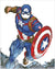 Captain america in actie diamond painting