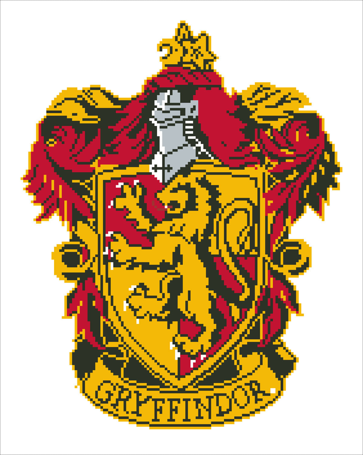 Gryffindor wapen diamond painting