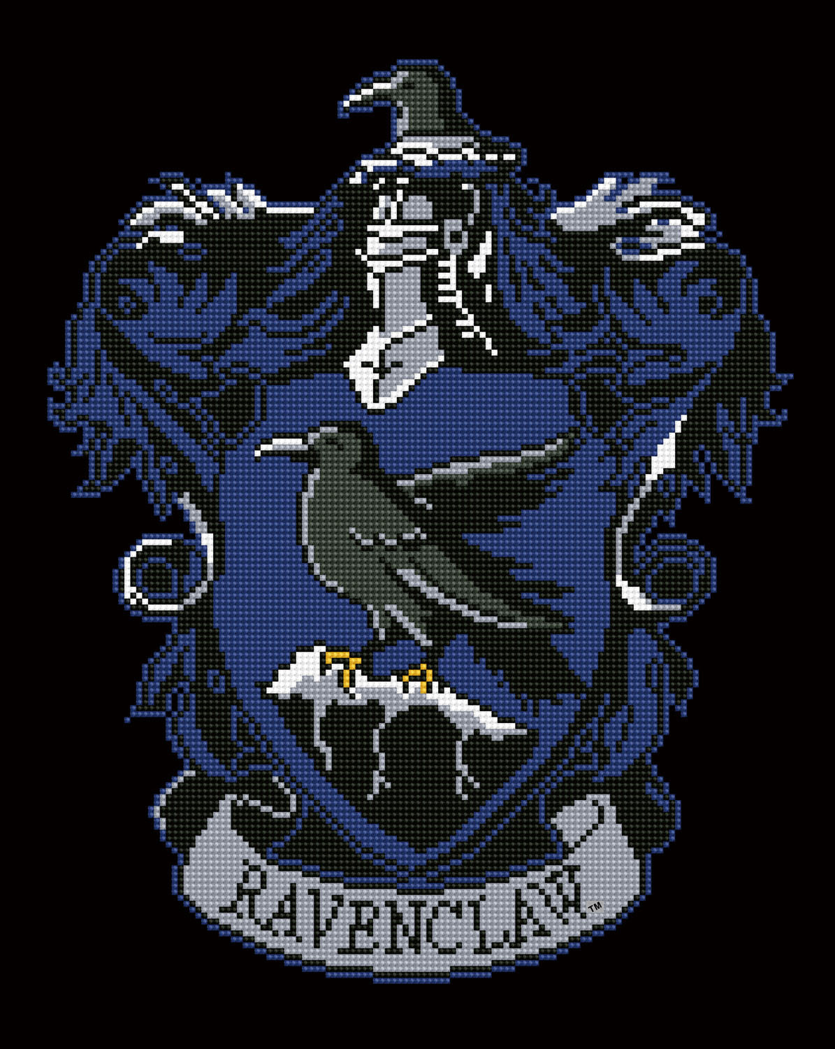 Ravenclaw wapen diamond painting