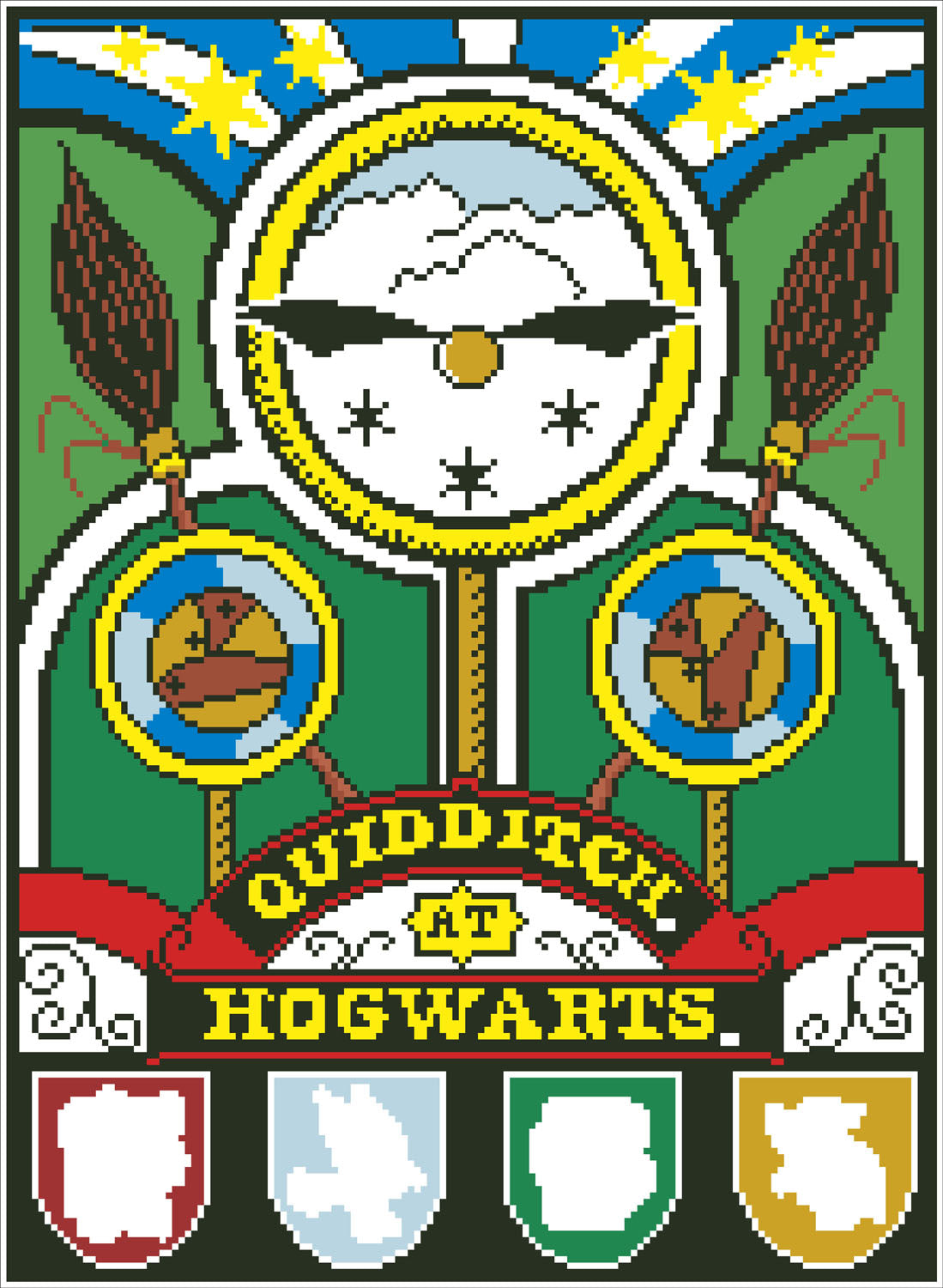 Quidditch zwerkbal diamond painting