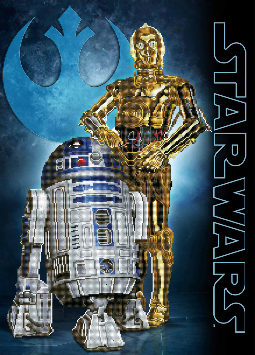 Stars wars droids diamond painting