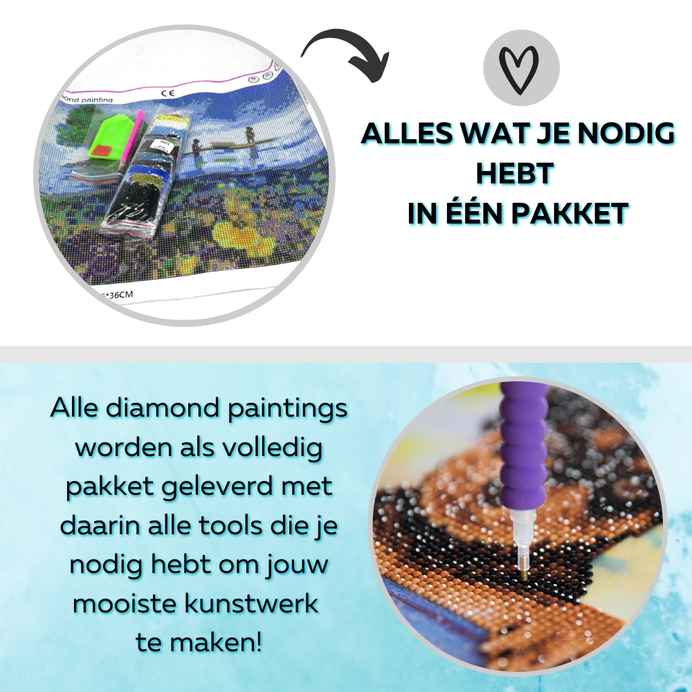 dikke dames make up diamond painting
