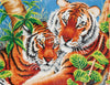 Twee tijgers in de jungle diamond painting