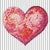 Roze hart diamond painting