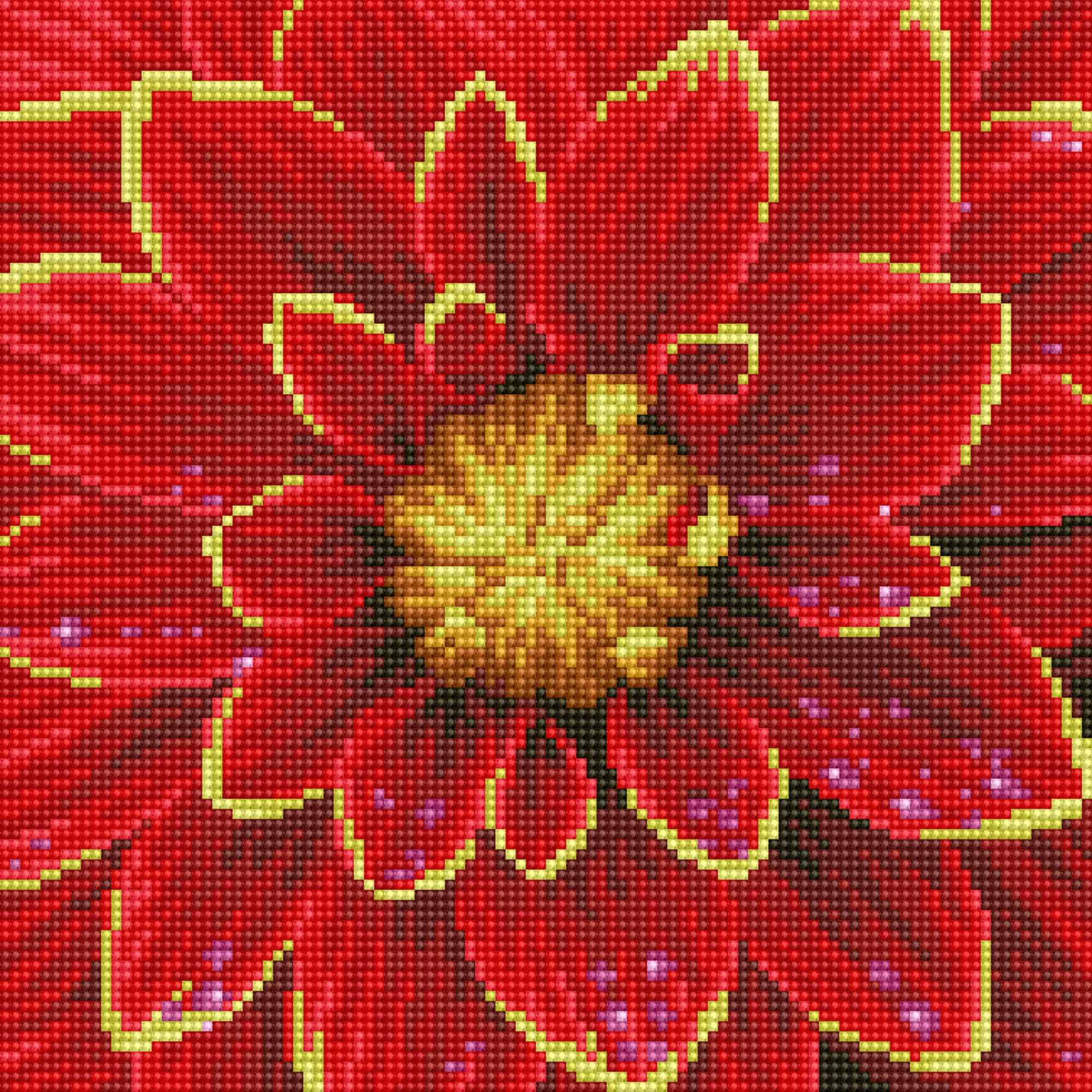 Dahlia diamond painting