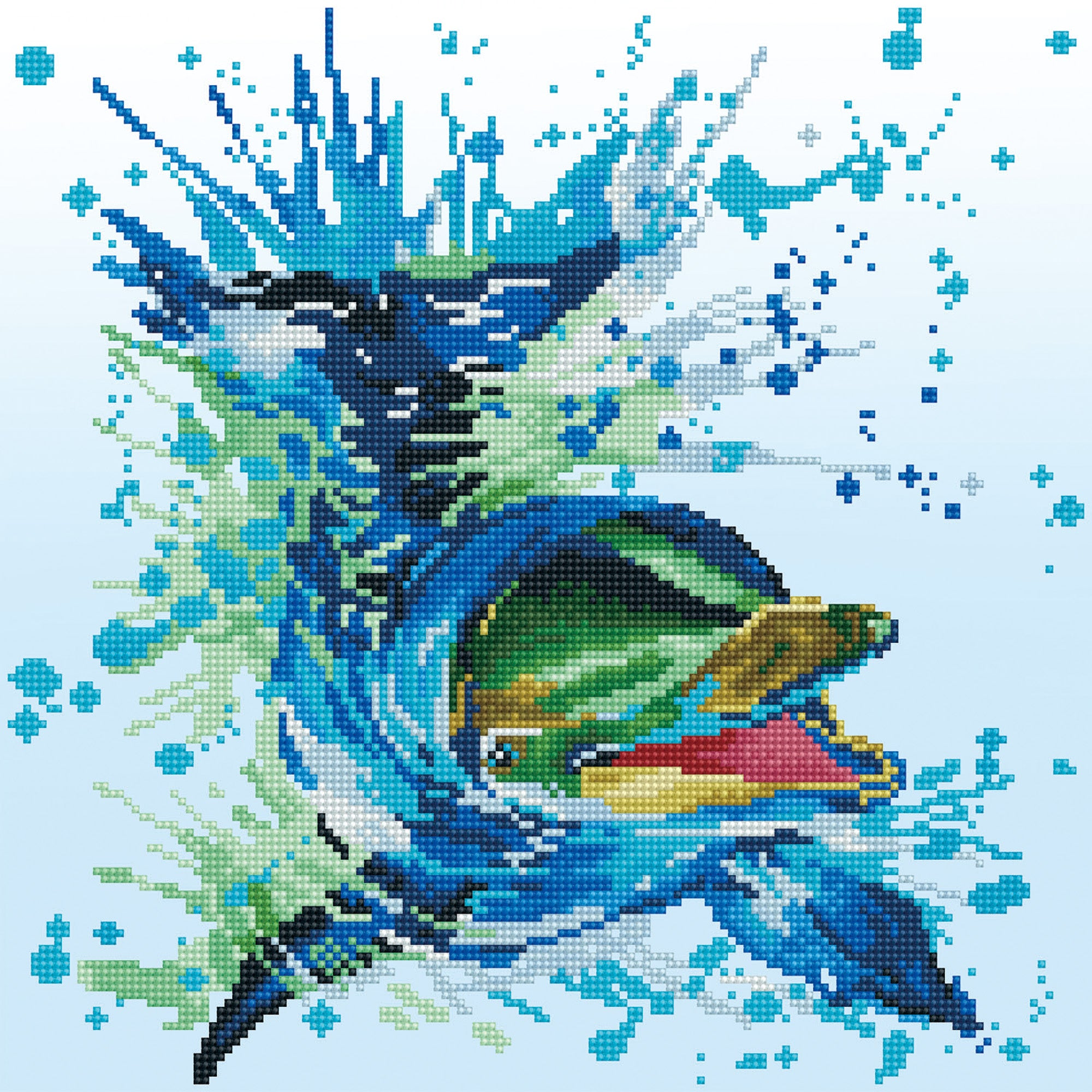 Flipper diamond painting
