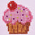Roze cupcake diamond painting
