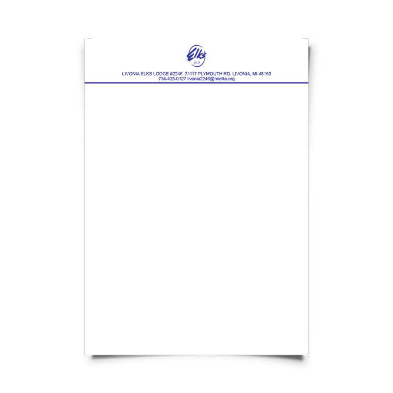 One Color Letterhead