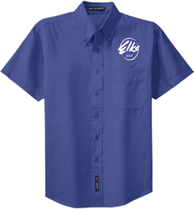 Elks Men's Custom Port Authority SHort Sleeve Easy Care Shirt in Royal