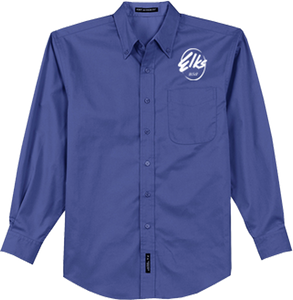 Men's Port AUthority Long Sleeve Easy Care Shirt in Royal