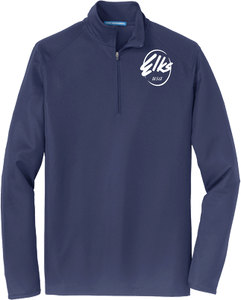 Custom Elks Men's Port Authority 1/2 Zip Pinpoint Mesh in Navy