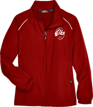 Load image into Gallery viewer, Custom Elks Ladies Core 365 Motivate Unlined lightweight jacket full zip in red