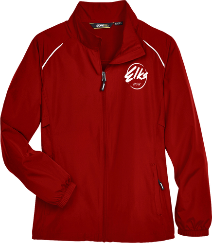 Custom Elks Ladies Core 365 Motivate Unlined lightweight jacket full zip in red