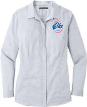 Load image into Gallery viewer, Port Authority Pincheck Easy Care Shirt in Light Gray & White