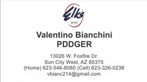 Standard Design Elks Business Cards #2