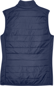 Custom Elks Core 365 Ladies Prevail Packable Puffer Vest Back View in Navy
