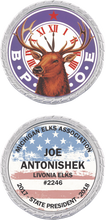 Load image into Gallery viewer, Custom Elks Challenge Coin in Silver