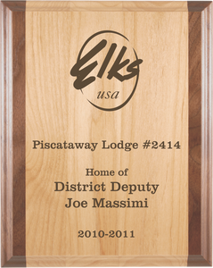 Custom Engraved Red Alder & Walnut Wood Plaque