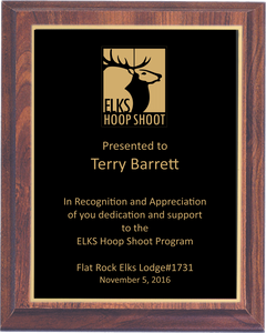 Value Hoop Shoot Plaque