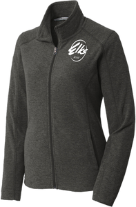 Custom Elks Ladies Port Authority Heather Microfleece full-zip jacket