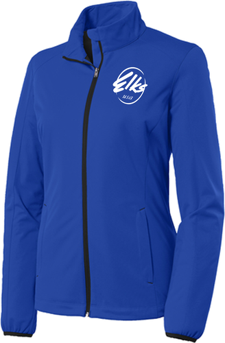 Port Authority Custom Elks Ladies Active Soft Shell Jacket in Royal Blue