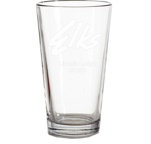16 oz. Etched Pint Glass - Set of 4