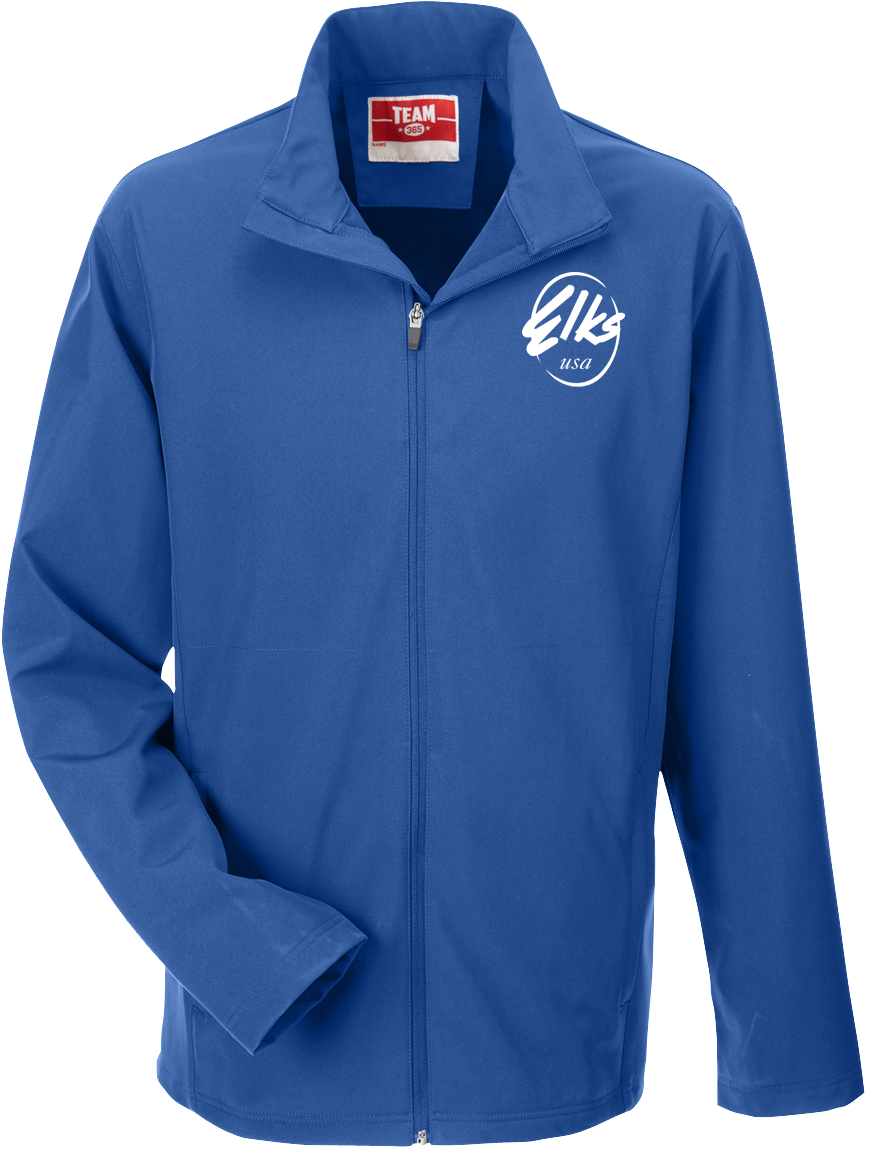 Elks custom Men's Team 365 Leader Soft Shell Jacket in Royal