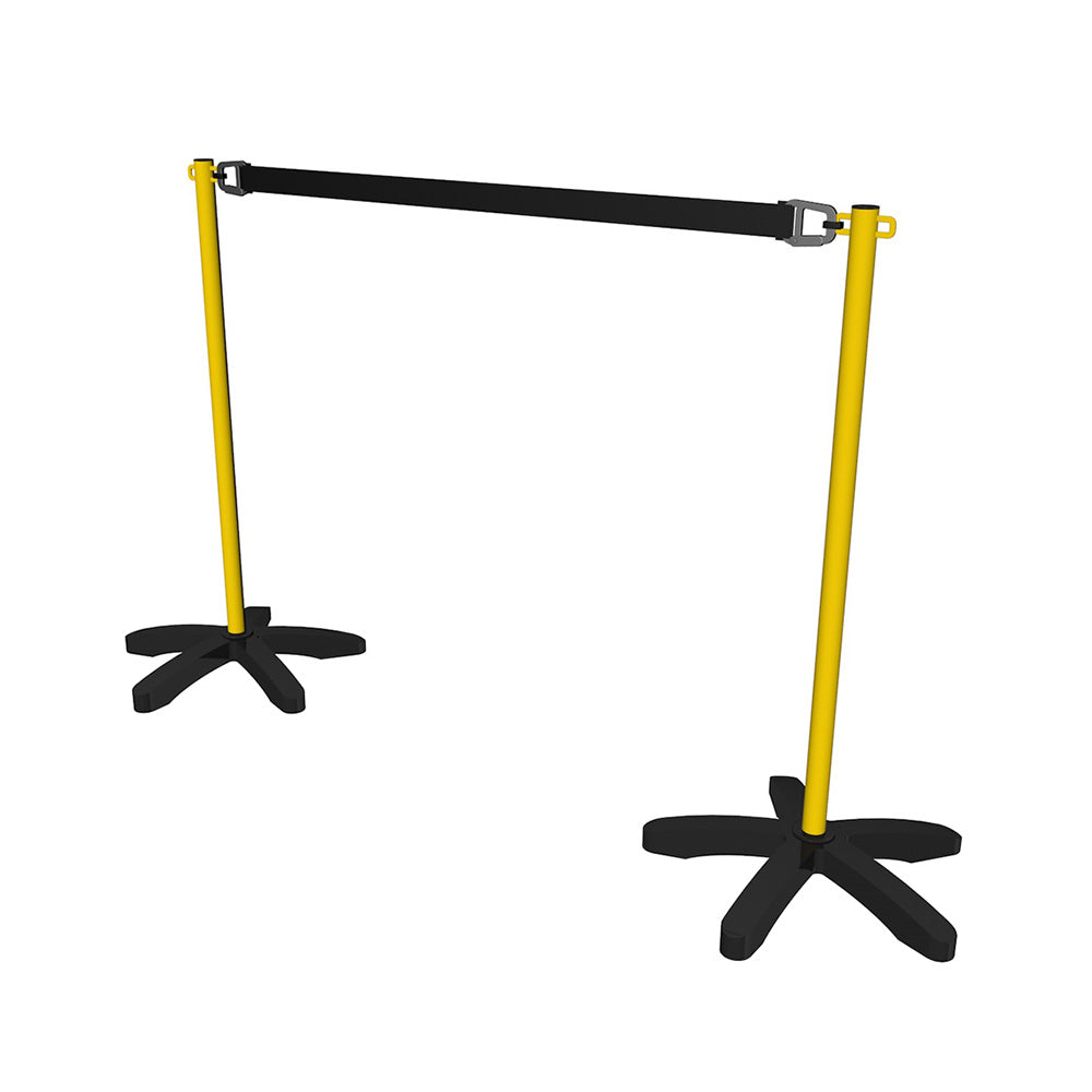 Queue Barrier Post & Base with 2m Strap