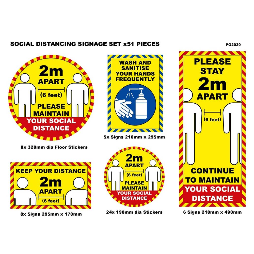 Covid-19 Social Distancing Signage Pack