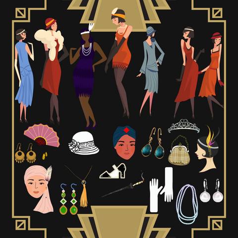 1920's Murder Mystery Female Game Costumes and Accessories