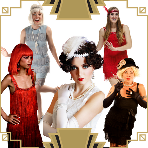 1920's Flapper Costume for Murder Mystery Games