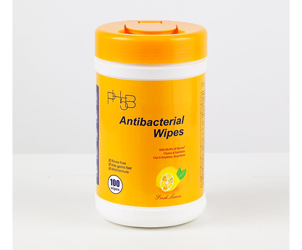 Antibacterial Wipes Canister 100ct - Lemon