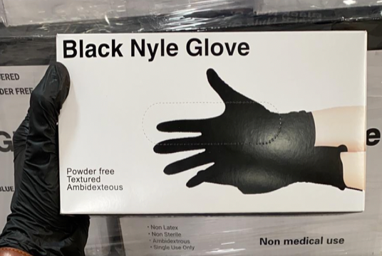 18,240 Boxes of Black Nyle Gloves - Medium
