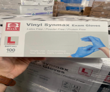 12,610 Boxes of Vinyl Synmax Exam Gloves - Large