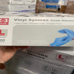 6,210 Boxes of Vinyl Synmax Exam Gloves - XLarge