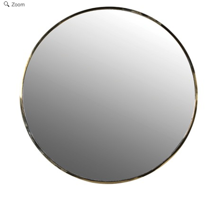 Gold Trim Round Mirror - Susan Clark Interiors