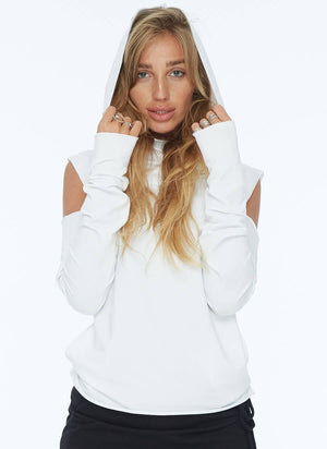 SUMMER SHOULDER-LESS HOODIE