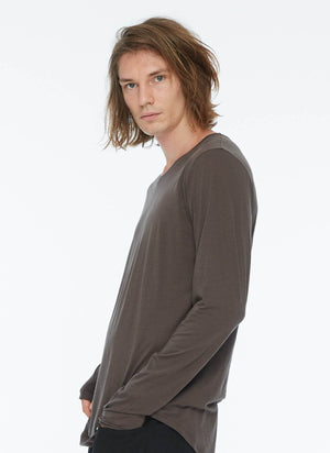 MENS LONG SLEEVE SHIRT TAUPE