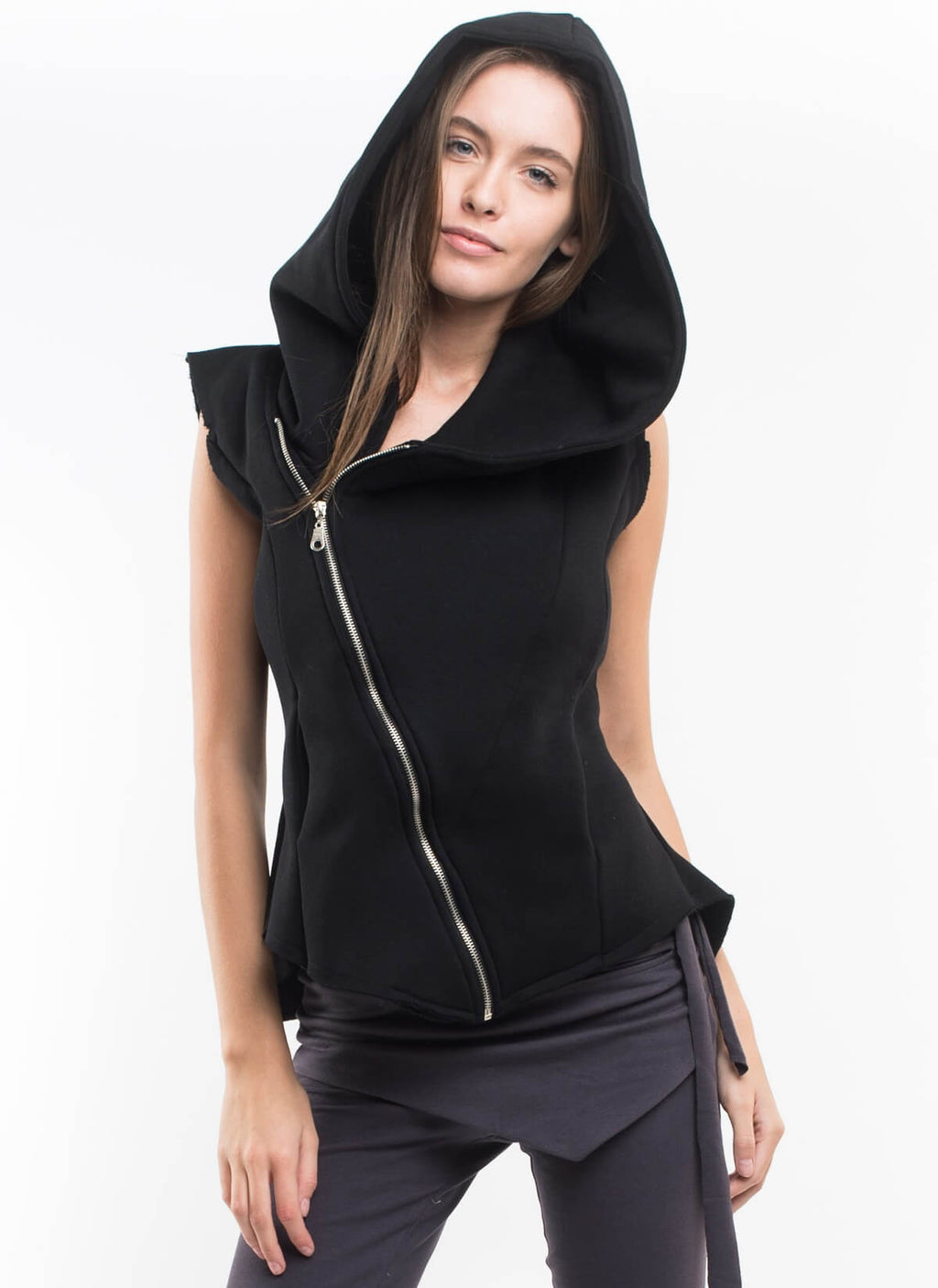 SUMMER NIGHTS ASYMMETRICAL HOODIE