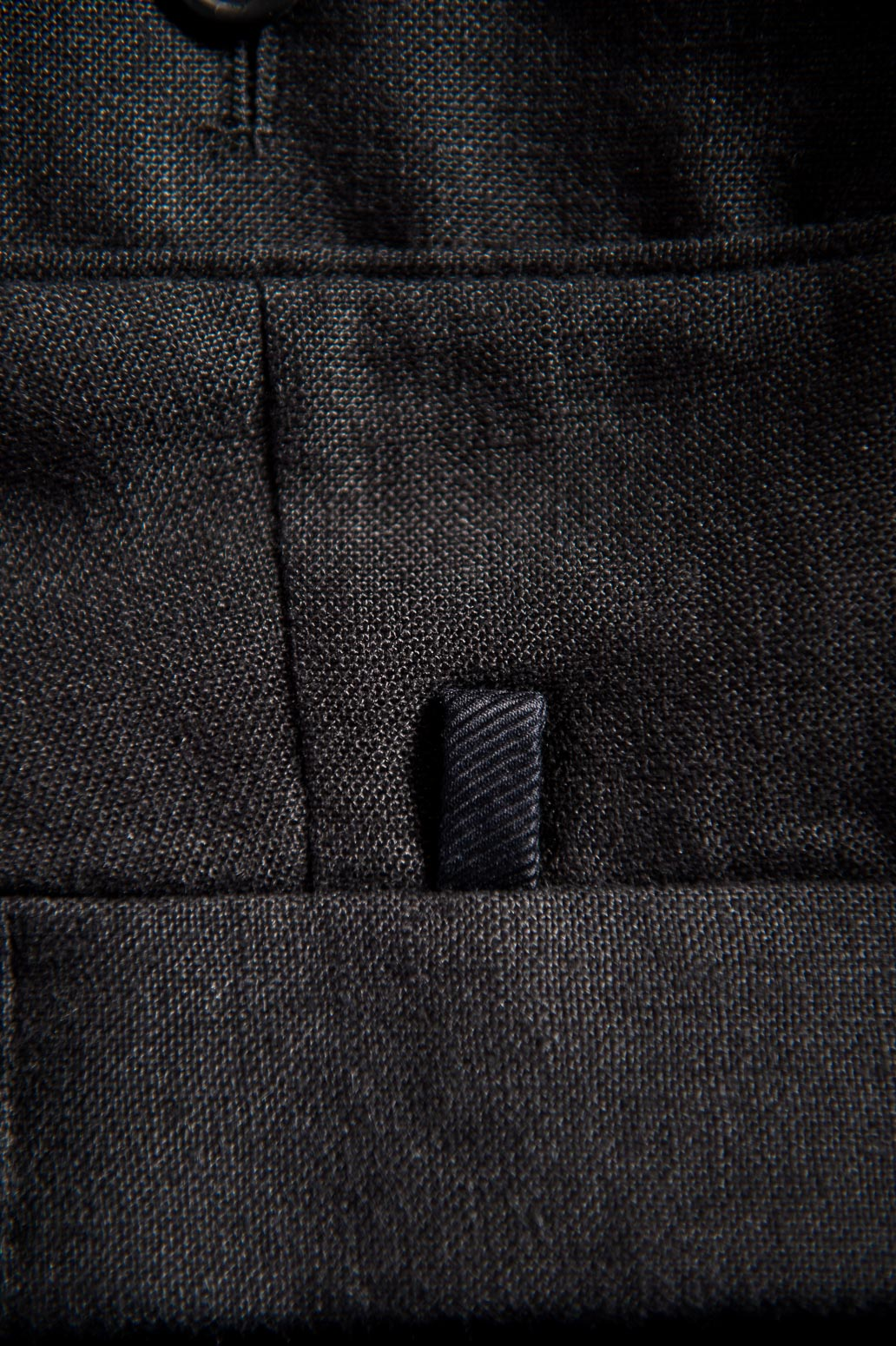 Pleated Black Linen Trousers