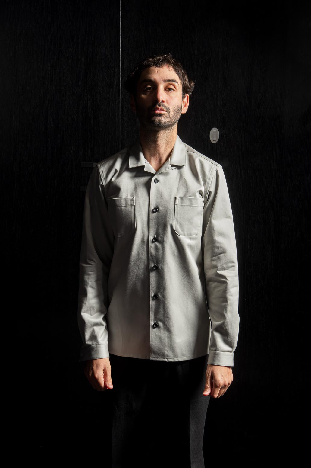 Cream Cotton Havana Collar Shirt