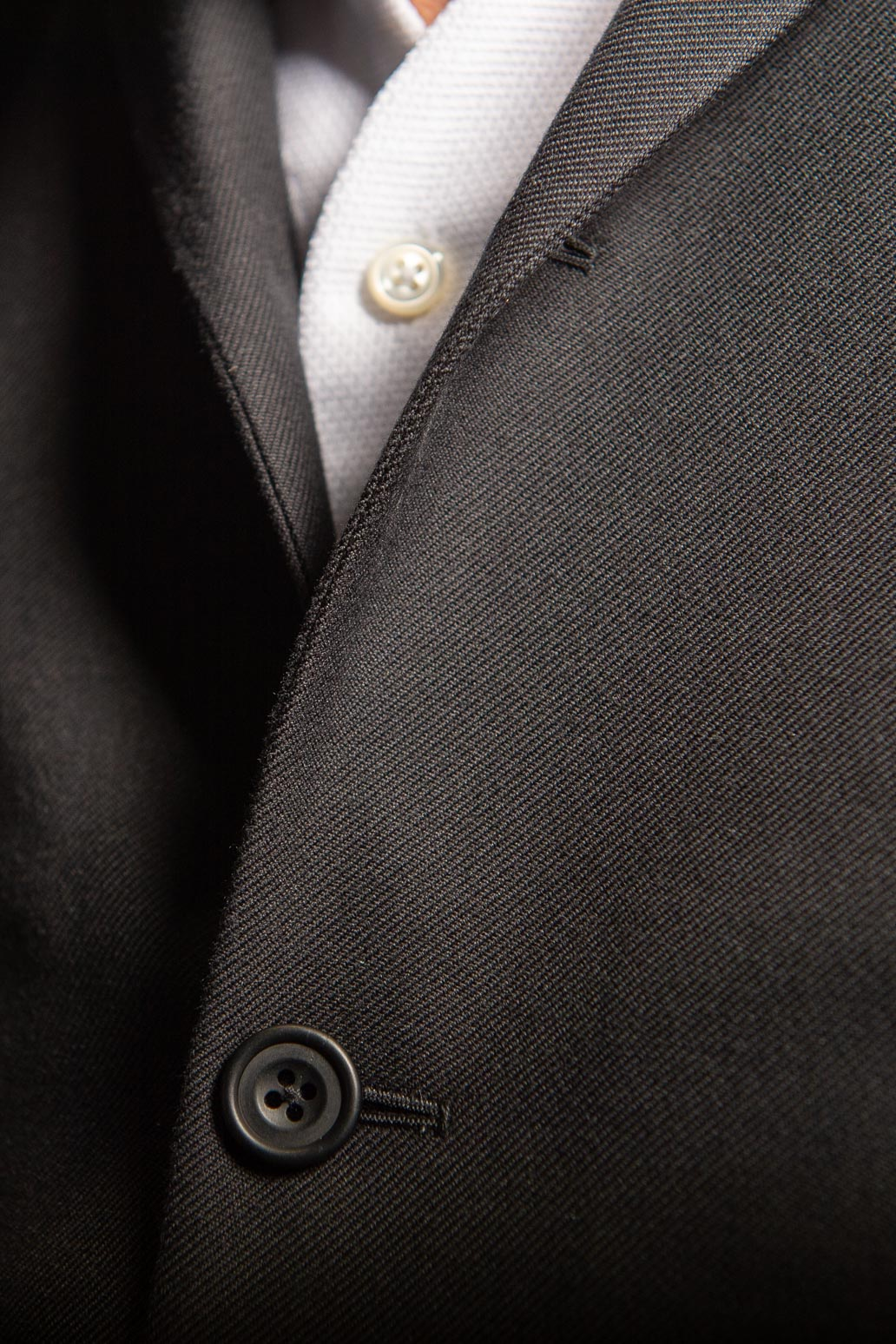 Shawl Collar Black Cotton Twill Bomber Jacket
