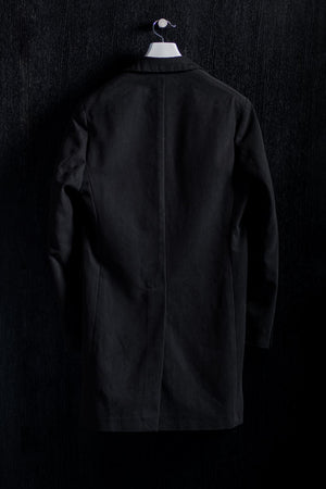Shirt Collar Black Cotton Coat