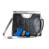 The Olivia Convertible Tote- Black Onyx