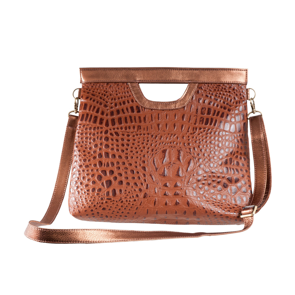 The Olivia Convertible Tote - Brown Spice